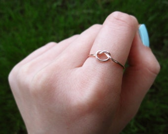 rose gold love knot ring, adjustable love knot ring, rose gold ring, rose gold knot ring, knot ring, love ring, midi love knot ring