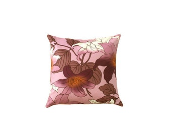 Purple pillow,pillow cover,flower,velvet pillow,pillow,Decorative pillow,throw pillow,home decor,Any Size,pillow sham,brahmacreation