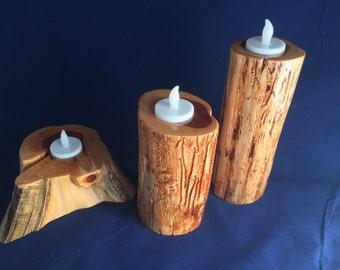 Cedar Tea Light Candle Set
