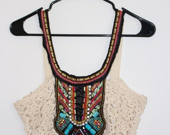 BOHO Festival CROCHET Crop TOP <3