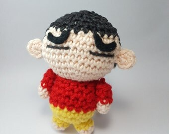 Shinchan amigurumi, shinnosuke nohara, anime, japanese, doll, plushies
