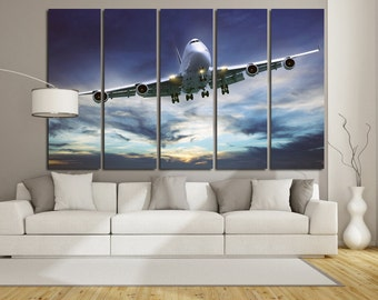 Boeing Wall Art Multi Panels Set Plane Wall Art Boeing Canvas Art Jet Wall Art Boeing Print Poster Boeing Wall Canvas MultiPanel