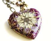 Wedding Jewelry/ Wedding Necklace/ Gift For Bride/ Bridal Jewelry/ Bridal Gift/ Gift For Her/ Wedding Jewelry/ Heart Locket/ Women's Locket