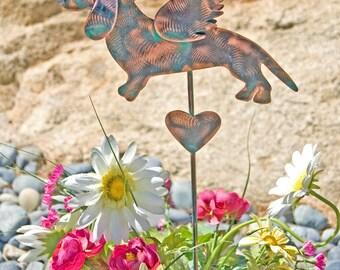 Dachshund Pet Grave Marker / Garden Stake / Metal Garden Art / Yard Art / Copper Art / Pet Memorial / Dog Sign