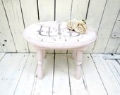 Pink Step Stool, Old Stool, Vintage Stool, Chandelier Decor, Paris Flea Market, French Cottage Decor, Rustic Farmhouse, Shabby and Chic
