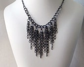 Chain Necklace Statement Jewelry, Chain Necklace Set,  Chain Earrings and Necklace, Steampunk Apocalypse Goth Jewelry