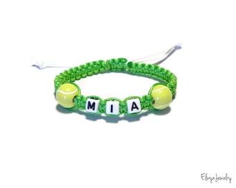 Name Bracelet, Little Girl Bracelet, Tennis Bracelet, Sport Bracelet, Personalized Gift, Kids Jewelry, Kids Gifts, Kids Bracelet, Girl Gift