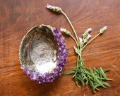 Crystal Abalone Shell Amethyst Abalone Smudge Bowl Ceremony Shell Altar Bowl Smudging Dish Smudge Tools Healing Crystal Jewelry Holder
