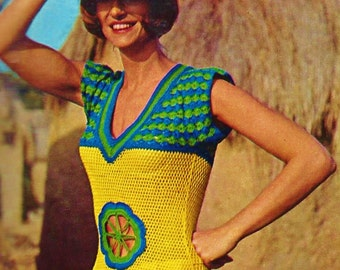 Crochet Top Vintage Crochet Pattern Download