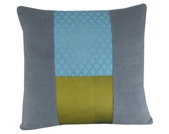 Moroccan Cushion Cover, Teal linen Cushion, Oriental pillow, 16x16 inches