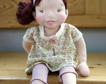 "Waldorfpuppe - 17 ""Steiner - doll, handmade doll, Handgefilzte doll, bio - doll, Waldorf dolls, rag doll"