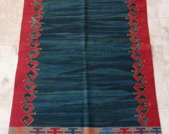3 by 5 rug / Vintage Oushak Rug / Vintage Kilim / Turkish Kilim Rug / Small Kilim Rug / Oushak Rug / Kilim Pillow / Kitchen Rug / Kilim Rug