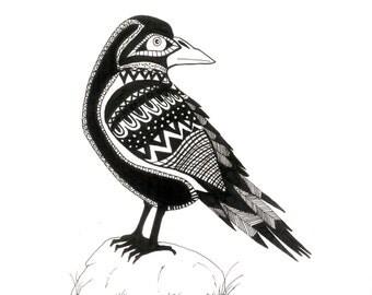 Pen & Ink Raven Print