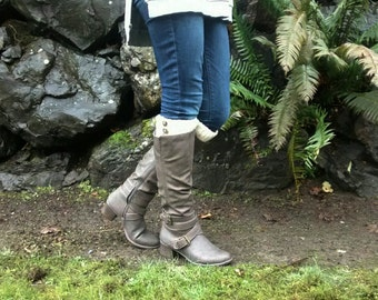 Boot Cuff Crochet Pattern: Double Sided (Small,Medium,Large,XL/Wide Calf)