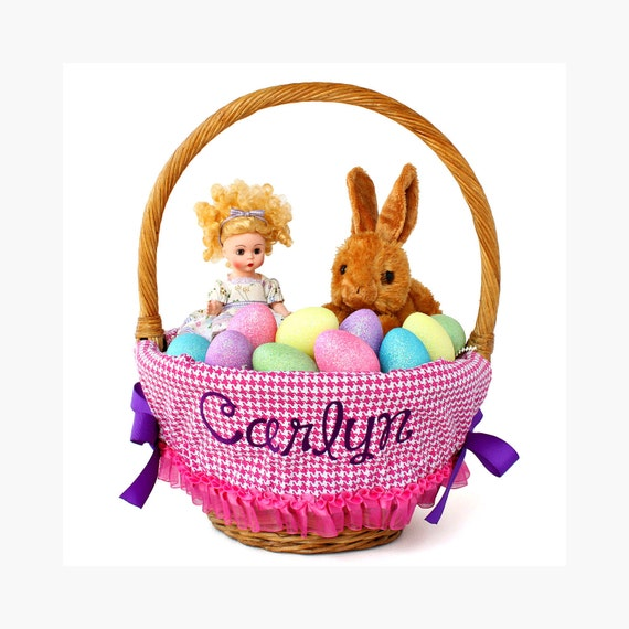 Personalized Easter Basket Liner, Last Minute Purchase, Basket not included, Monogrammed Easter basket liner, Custom basket liner with name