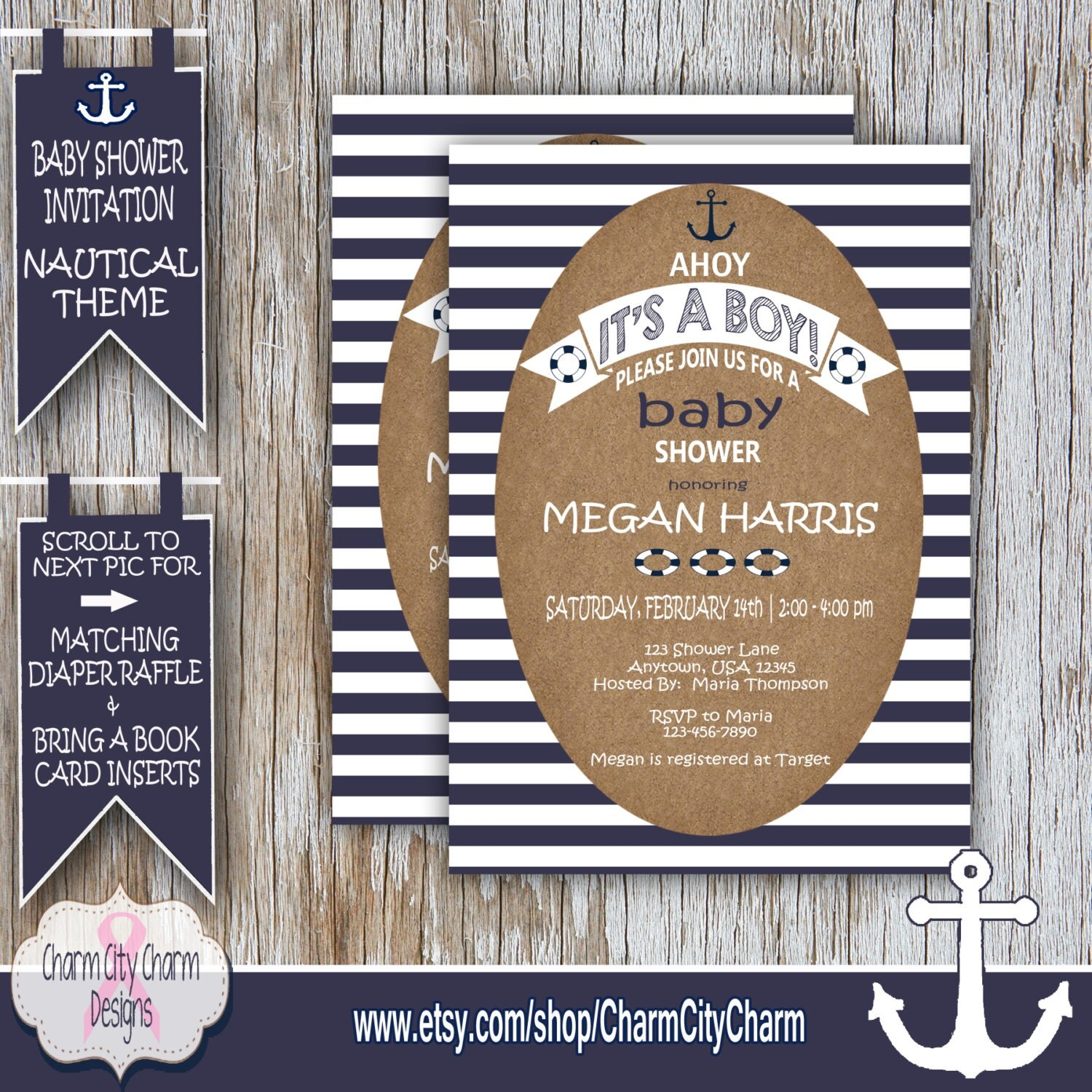 nautical baby shower invitation ahoy it 39 s a boy shower