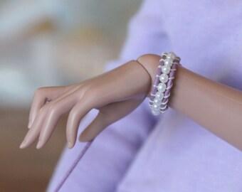Purple Pearl Wrap Bracelet for 1/3 BJD