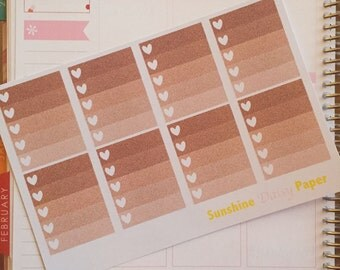Rose Gold and Pink Collection Erin Condren Full Box Heart Checklists planner stickers!