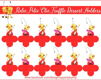 ROLIE POLIE OLIE, Rolie Polie Olie Candy Holders, Rolie Polie Olie Cupcake Toppers, Rolie Polie Olie Chocolate Holders, Party Supplies,Cups.