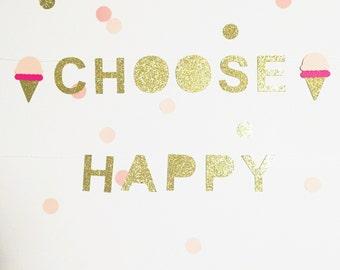 Choose Happy Ice-cream mini banner