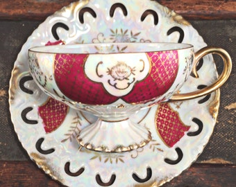 Teacup Candle - Custom Scent and Color - The Belinda