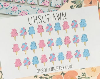 Hand Draw Cotton Candy Planner Stickers