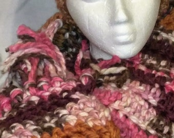 Multi colored 7 foot scarf with fringes