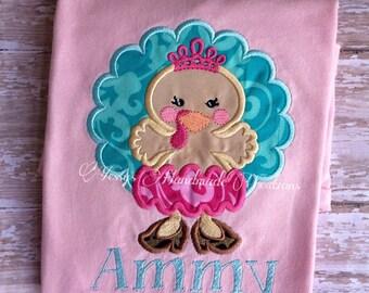 Turkey shirt. Princess turkey shirt. Thanksgiving outfit