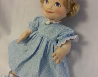 Soft Sculpture Doll, Cloth Doll, Baby Doll, Handmade Doll, OOAK Doll