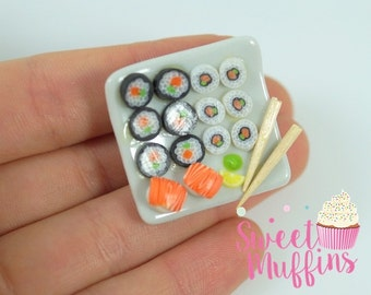 Brooch sushi,Miniature Food, Polymer Clay Miniatures, Fake Food Miniature,sweet jewelry