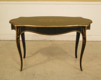 L28151E:  French Paint Decorated One Drawer Writing Desk