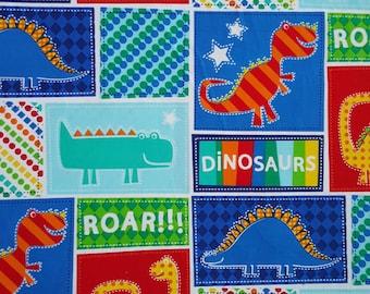 Dinosaur Print Fabric by Timeless Treasures - 1 Yard