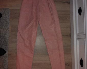LES TERRIBLES size 32 leather pants