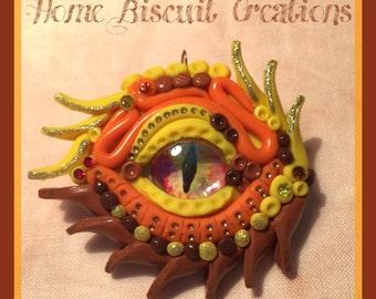 Sun Dragon's eye pendant