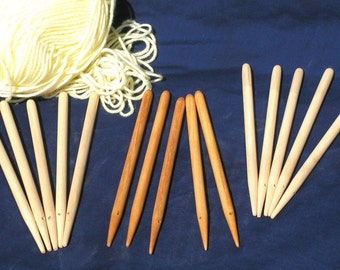 Weaving sticks set of 5 - effectivly a hand held Peg Loom