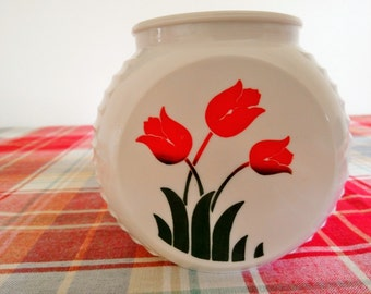 FREE SHIPPING, Vintage Grease Jar, Tulip