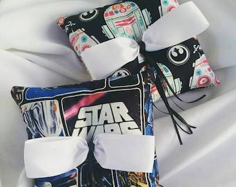 Star Wars Print Ring Bearer Pillow