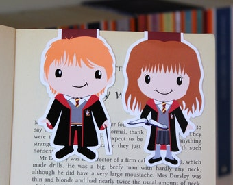 Wizard Friends Bookmarks | Ron and Hermione