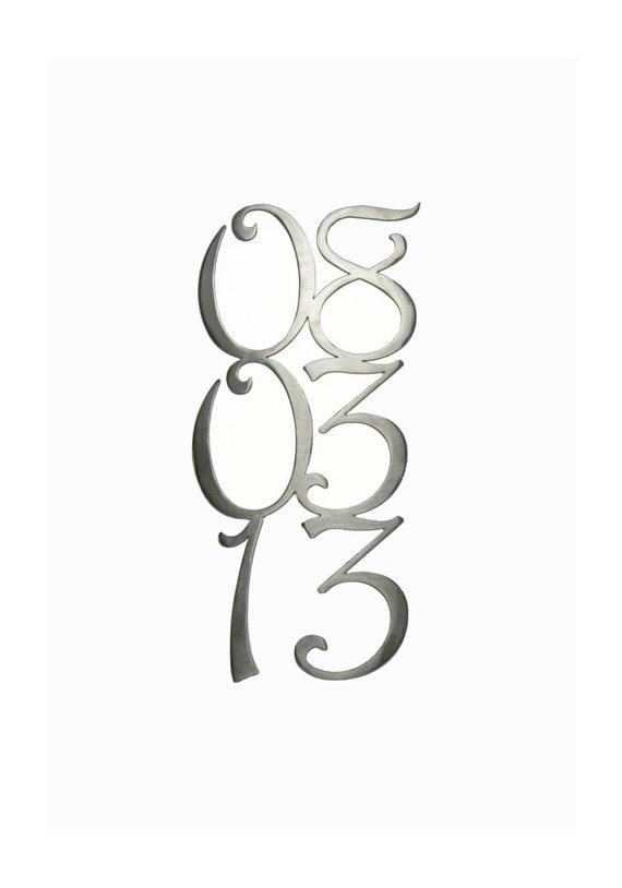 Custom Metal Anniversary Dates