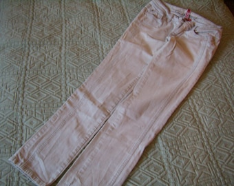 90 s wife jean faded gray/white, slim legs cigarette, size FR 38/US 28, low waist, Vintage
