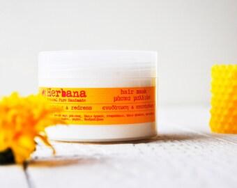 Hair Mask, After Sun, Intensive Repair, Moisturizing Hair Treatment, Nourishing Mask, Organic Hair Remedy, Shinny Hair by Herbana Cosmetics