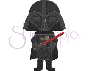 Space Villain Filled Embroidery Design - 6 sizes Darth Vader Machine Embroidery Design Star Wars Embroidery Design - Instant Download Files
