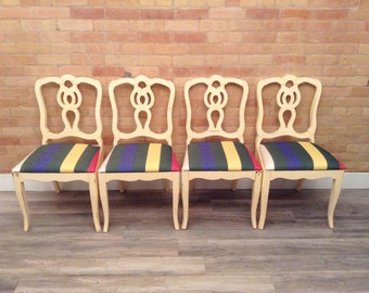 Vintage Dining Chairs in Mellow Yellow