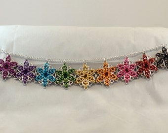 Celtic Star Chainmaille Pendant, Multiple Color Options Available