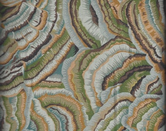 Kaffe Fassett Collective Spring 2016 - TREE FUNGI GREY designed by Philip Jacobs