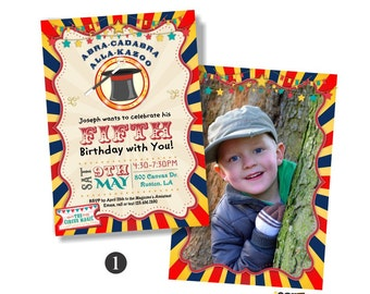 Kids Magic Show Birthday Party, Magician Birthday Invitation. Magician Party Invite, Magic Party Invitation, Magic Show Birthday Invites 195
