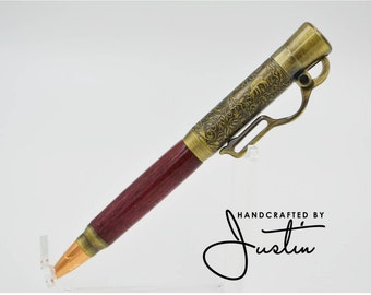 Unique Handcrafted Lever Action Rifle Bullet Pen