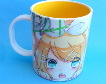 Cute Vocaloid - Rin and Len Kagamine Mug Coffee Tea Cup Unique Anime