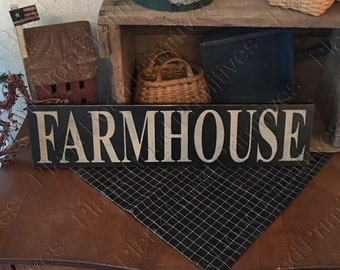 "STENCIL, Farmhouse, 24""x5.5"", reusable plastic mylar stencil, farm stencil, primitive stencil, sign making, craft stencil, NOT A SIGN"