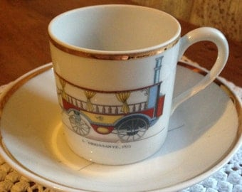 Vintage French Limoges Espresso Coffee Cup - L'Obeissante 1873